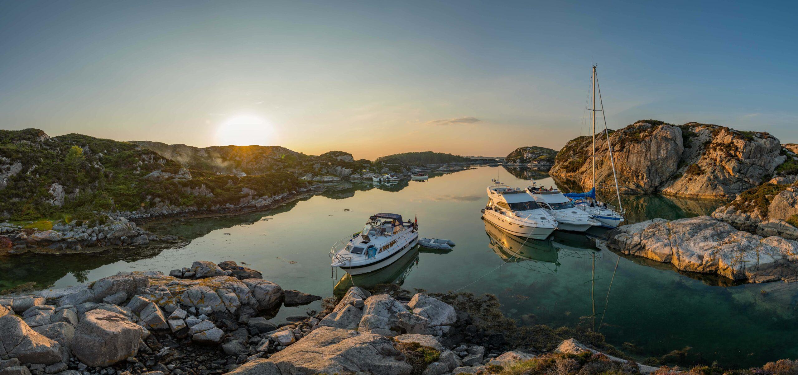 Boats Moored Horgo Norway